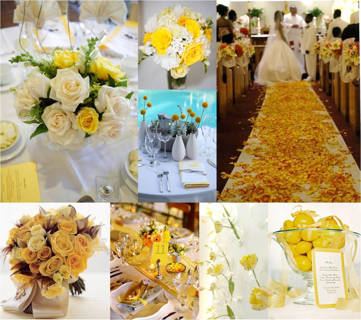 mesa decorada amarela  Amarelo Ouro