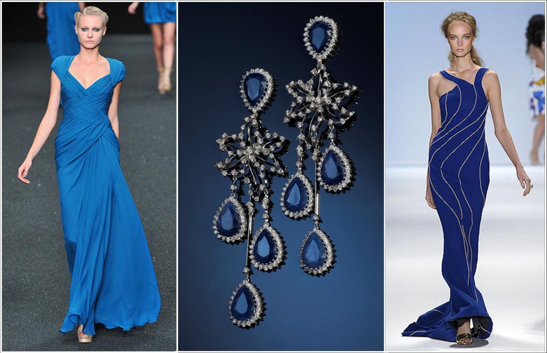 Acessorios para usar com vestido azul