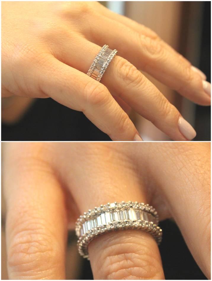 aliança de ouro branco com diamantes! inteirinha de diamantes!!!! mtos  suspiros… 9d05083d26